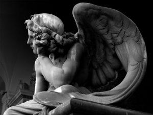 Roma, Cimitero del Verano, Angelo della Notte, Giulio Monteverde - Rome, Verano Cemetery, Angel of the Night